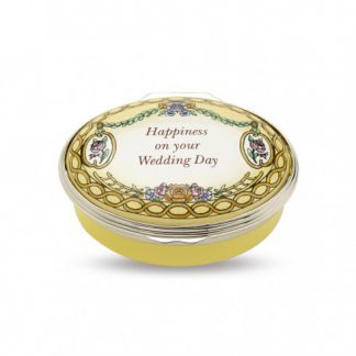 Halcyon Days Happiness On Your Wedding Day Box