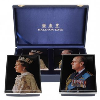 Halcyon Days HM The Queen & HRH The Duke of Edinburgh's 70th Wedding Anniversary Box Set