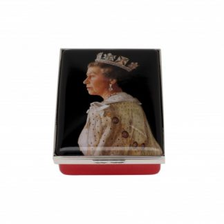 Halcyon Days HM The Queen Portrait by Richard Stone 70th Wedding Anniversary Box