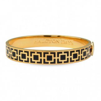 Halcyon Days Mosaic Black & Gold Bangle