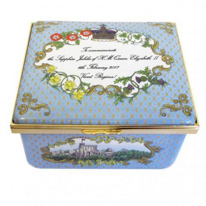 Halcyon Days Sapphire Jubilee Musical Box