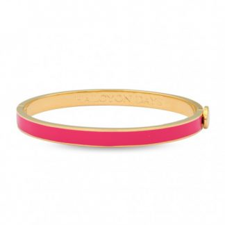 Halcyon Days Skinny Plain Hot Pink & Gold Bangle