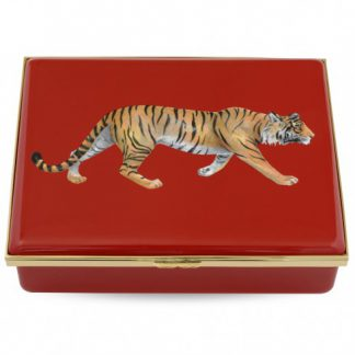 Halcyon Days Tiger Prestige Box On Red