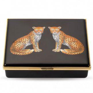 Halcyon Days Twin Leopards Prestige Box