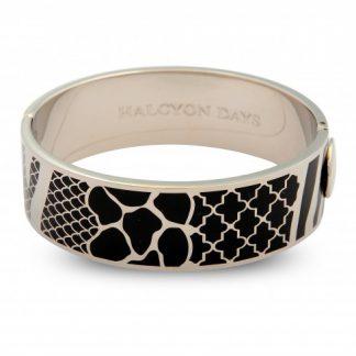 Halcyon Days Wildlife Black & Palladium Bangle