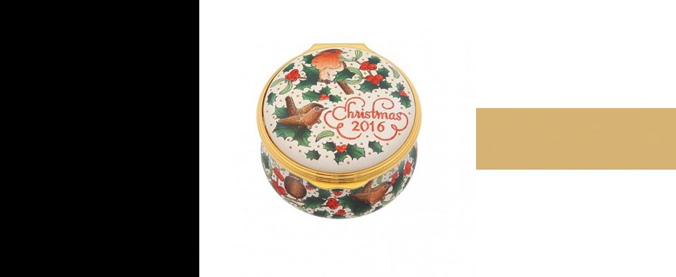 Halcyon Days Christmas 2016 enamel box