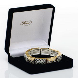 Herend 10 Link Bracelet Black And Gold Alternating