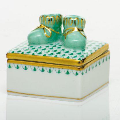 Herend  Baby Bootie Box