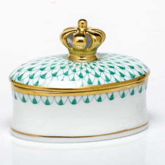 Herend Box With Crown