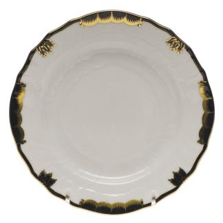 Herend Bread And Butter Plate Black