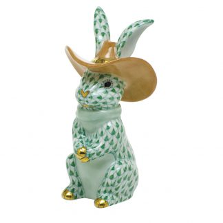 Herend Bunnies Cowboy Bunny