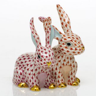 Herend Bunnies Twisted Bunnies