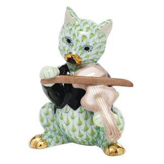 Herend Cat With Fiddle