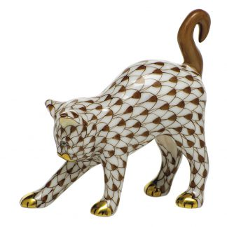 Herend Cats Arched Cat