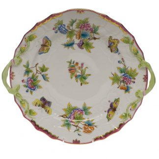Herend Chop Plate With Handles Pink
