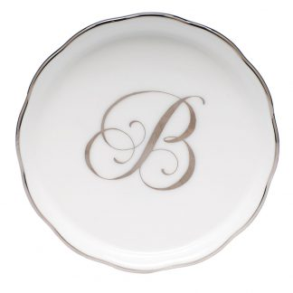 Herend Coaster With Monogram B