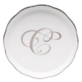 Herend Coaster With Monogram C