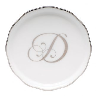 Herend Coaster With Monogram D