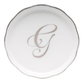 Herend Coaster With Monogram G