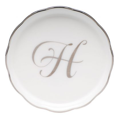 Herend Coaster With Monogram H