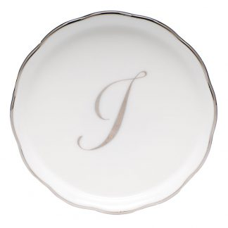 Herend Coaster With Monogram I