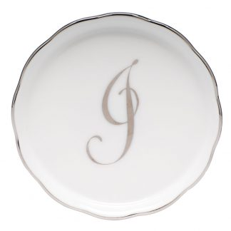 Herend Coaster With Monogram J