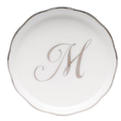 Herend Coaster With Monogram M