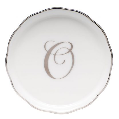 Herend Coaster With Monogram O