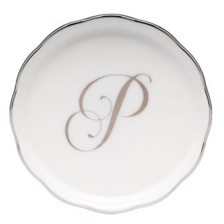 Herend Coaster With Monogram P