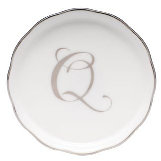 Herend Coaster With Monogram Q