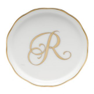 Herend Coaster With Monogram R