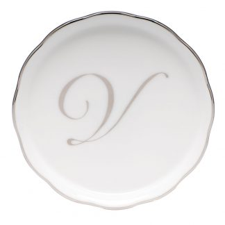 Herend Coaster With Monogram V