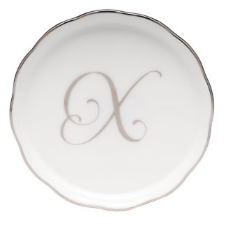 Herend Coaster With Monogram X