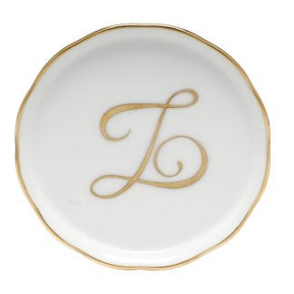 Herend Coaster With Monogram Z