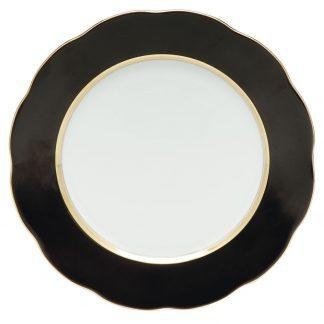Herend Dessert Plate Black