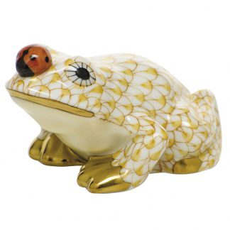 Herend Frogs Frog With Ladybug