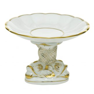 Herend Golden Edge Shell With Dolphin Stand