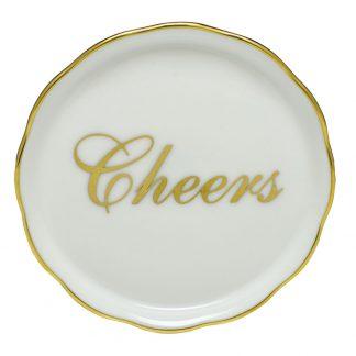 Herend Monogram Cheers Coaster