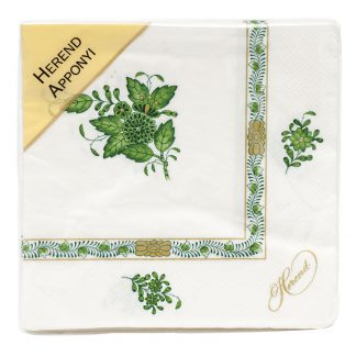 Herend Paper Napkins Pack Of 20 Green
