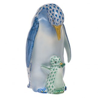 Herend Penguin With Baby