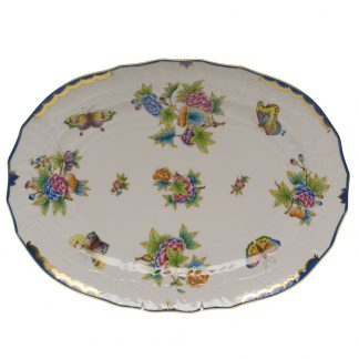 Herend Platter Blue