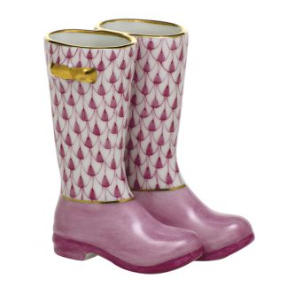 Herend Porcelain Figurines Pair Of Rain Boots