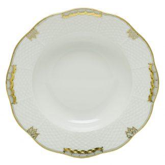 Herend Princess Victoria Gray Rim Soup Plate