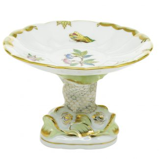 Herend Queen Victoria Shell With Dolphin Stand