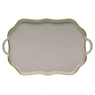 Herend Rectangular Tray With Handles