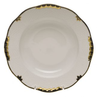 Herend Rim Soup Plate Black