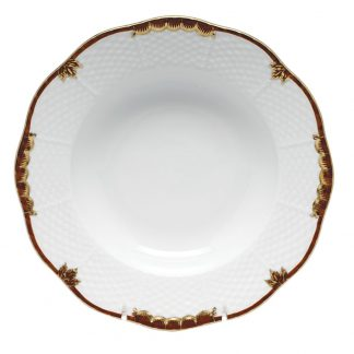 Herend Rim Soup Plate Brown