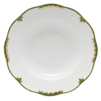 Herend Rim Soup Plate Green