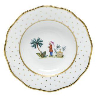 Herend Rim Soup Plate Motif 02
