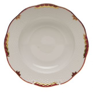 Herend Rim Soup Plate Pink